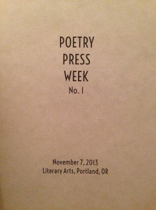 Portland's Poetry Press Week Is Full of Surprises