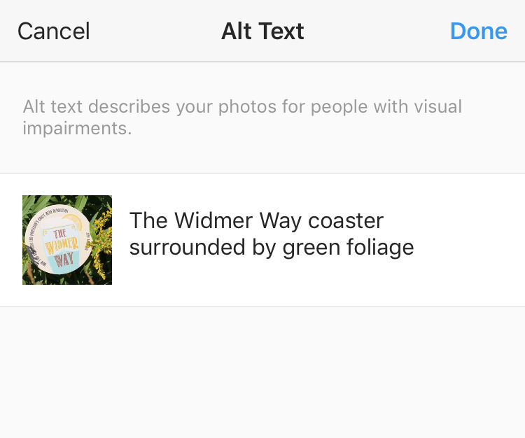 Instagram Introduced Alt Text
