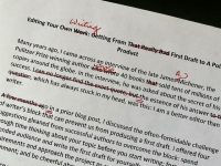 Editing Your Own Work: The First Draft to the Polished Product
